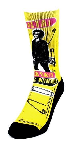 Meia Punk Rock Amarela Altai
