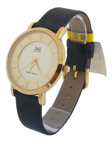 Relógio Qq Quartz Feminino Original Pulseira De Couro Vip