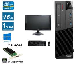 Desktop Lenovo I5 3.2ghz 16gb Ssd 1tb Nvidia + Monitor/tv 19