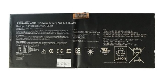 Bateria Tablet Asus Vivo Tab Rt Tf600t C12-tf600t (10516)