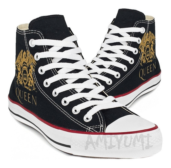 All Star Queen Converse Cano Alto Tênis Freddie Mercury