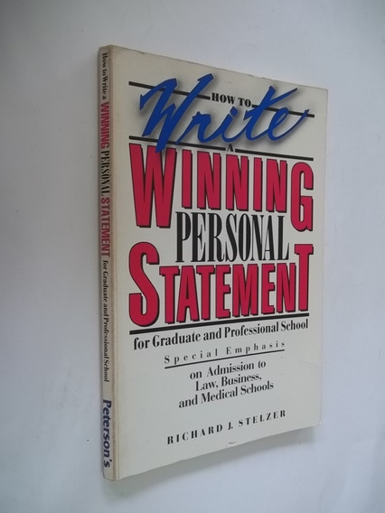 Livro - How To Write A Winning Personal Statement