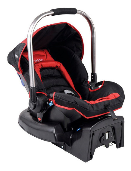 Bebê Conforto Caracol C/ Base Kiddo Vermelho Inmetro