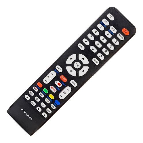 Control Remoto Atvio Smart Tv Atv32sm Serie Lk + Funda Pila