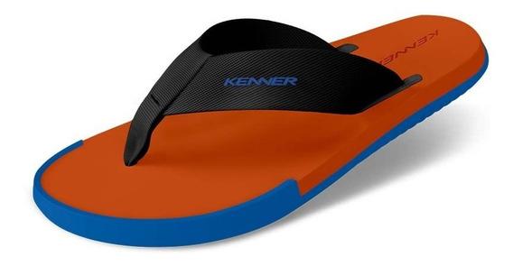 Sandália Kenner Kick-s Colors Laranja / Azul