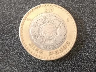 Moneda Rara De 10 Pesos Mexicanos Con Error