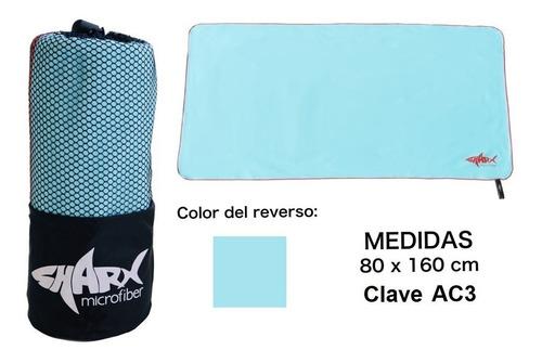 Imagen 1 de 5 de Toalla Microfibra Sharx* 80x160cm Color Aqua Envío Gratis