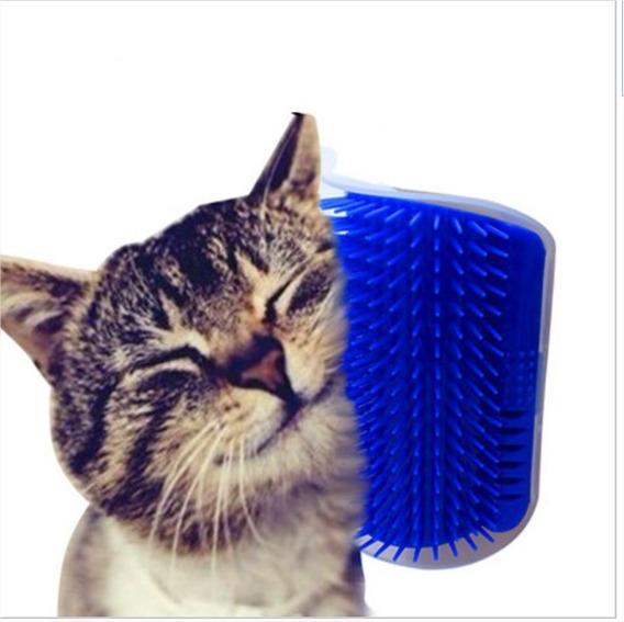 Escova Massageadora Pet Parede Para Gatos Com Catnip