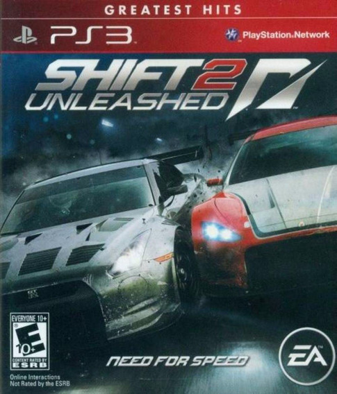Jogo Ps3 Need For Speed Shift 2 Unleashed Greatest Hits Novo