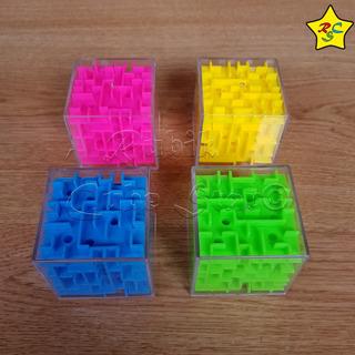 Puzzle Laberinto 3d Transparente 5 Cm Cubo Rubik - Colores