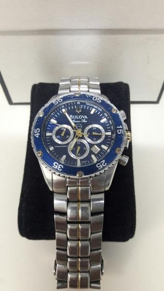Relógio Bulova Marine Star Fundo:azulcom Marcador De Data