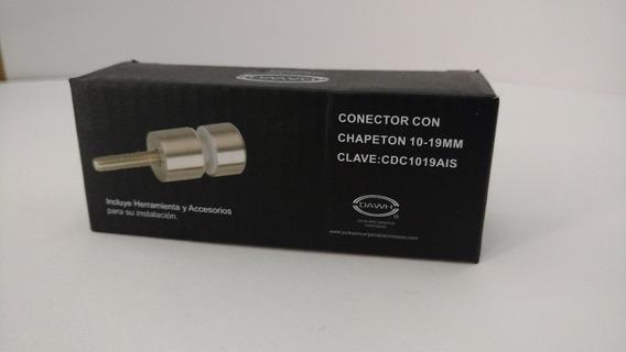 Conector Con Chapeton 10-19mm Acero Inox. 304 Cdc1019ais
