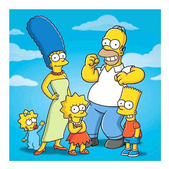 5d Diy Broca Completa Diamante Pintura Os Simpsons Bordado