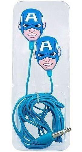 Fone De Ouvido Capitão America Marvel Na Caixa Vingadores