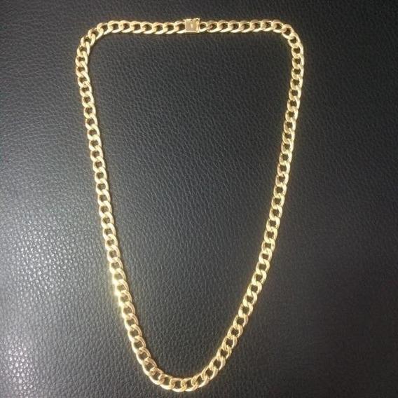 Corrente Em Ouro 18k Groumet De 6,2mm Com 60cm