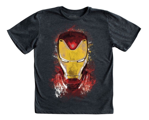 Playera Mascara De Latex Golden Avenger Niño Endgame