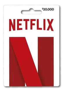Tarjetas De Regalo 32 Dias Pin Virtual De Netflix $20.000