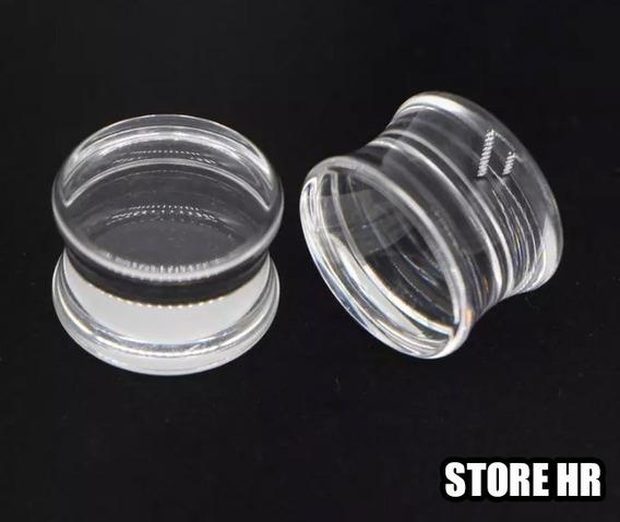 Alargador De Acrílico Transparente - 10mm