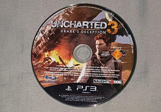 Uncharted 3 Drakes Deception Ps3 Midia Física Com Garantia