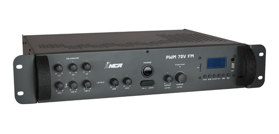 Amplificador De Som Pwm 70 V Fm 2 Canais - Nca