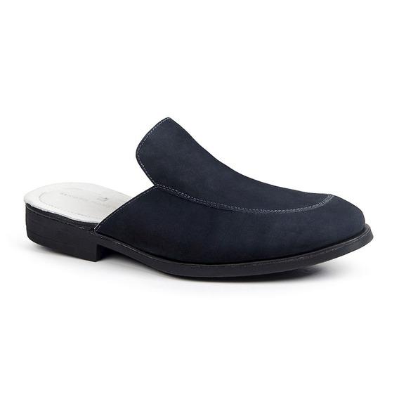 Sapato Mule Masculino Sandro Moscoloni Nariono Azul Marinho