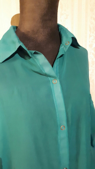 Camisa De Gasa Verde Aguamarina