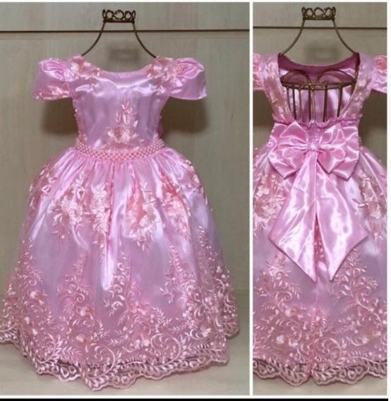Vestido De Renda Infantil Tamanho 12 Calçados Roupas E