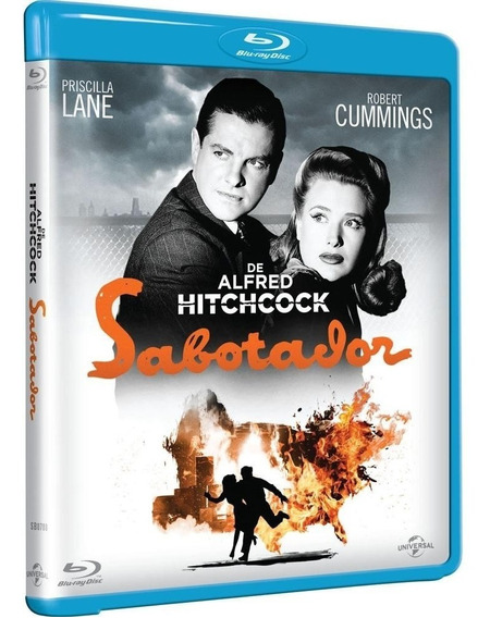 Sabotador - Blu-ray - Alfred Hitchcock - Novo - Lacrado