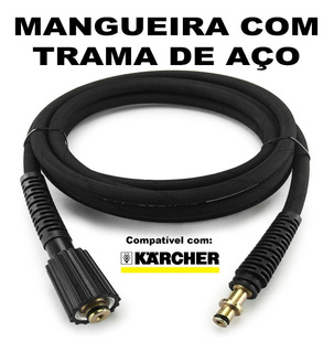 Mangueira Malha Aço 10 Metros Para Lava Jato Karcher Hd585