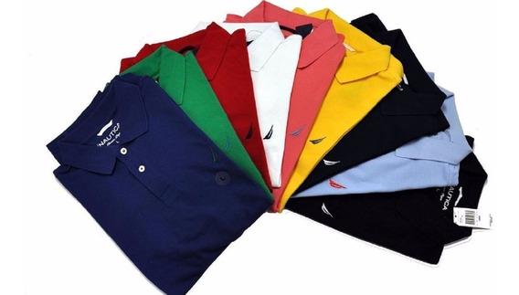 12 Playeras Tipo Polo Varias Marcas, Colores,tallas A Elegir