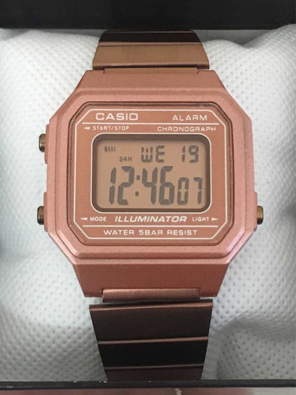 Reloj Casio B650wc Rosa Dorado Mayoreo