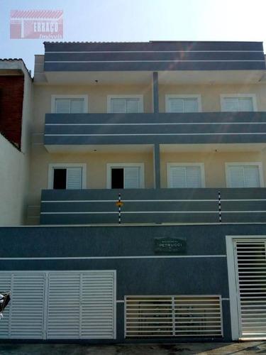 Imagem 1 de 13 de Cobertura Com 2 Dormitórios À Venda, 40 M² Por R$ 250.000,00 - Jardim Ipanema - Santo André/sp - Co0465