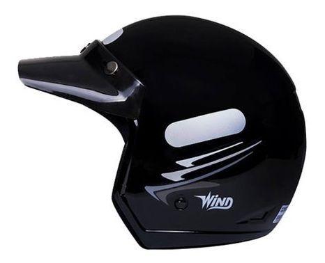 Capacete Taurus Wind Speed Lines Preto Fosco Tamanho 56