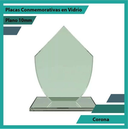 Recordatorios En Cristal Corona Pulido Plano 10mm