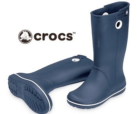 Bota De Goma Crocs Caña Alta Azul - Cr10970 - Talle 36 - W 6