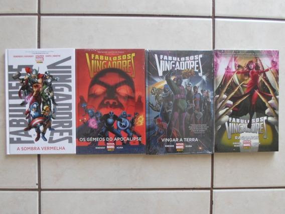 Fabulosos Vingadores Nova Marvel 4 Hqs Capa Dura Panini