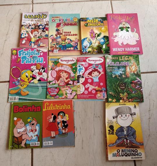Lote 23 Livros E Gibis Variados Antigos Raros Lembranças