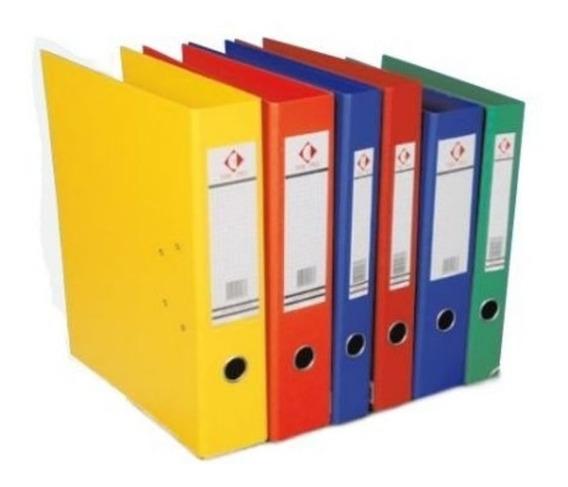 Bibliorato De Color Oficio O A4 Plastificados Reforzados X30