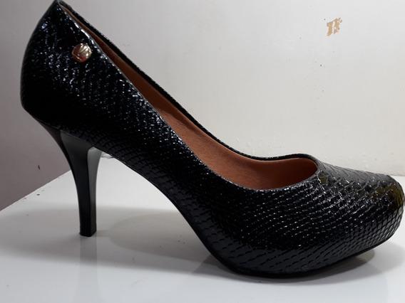 Zapato Vizzano Taco Medio Fino Reptil Cerrado 35 Al 40