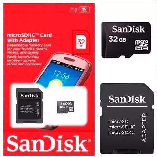 Cartão De Memória Sandisk 32gb Original Lacrado