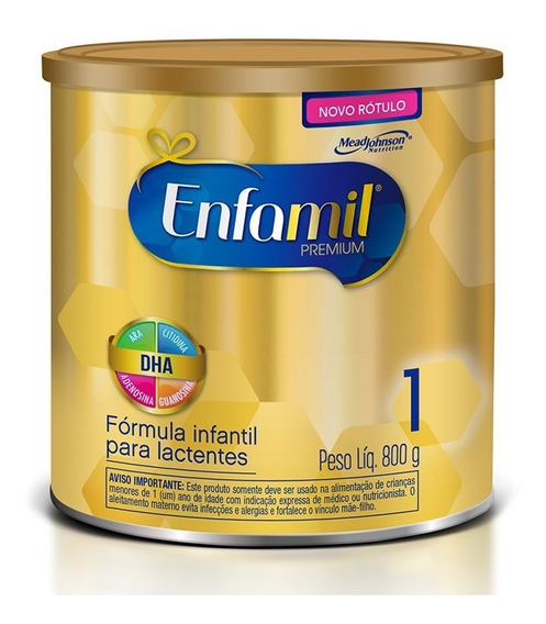 Leite Em Po Enfamil Premium 1 Com 800 Gramas