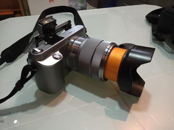 Camera Sony Nex 3 Com Lente 18-55mm Completa Com Pouco Uso!