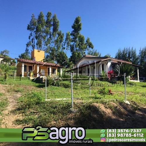 Chácara Com 5 Dormitórios À Venda, 7300 M² Por R$ 490.000 - Conde/pb - Ch0016
