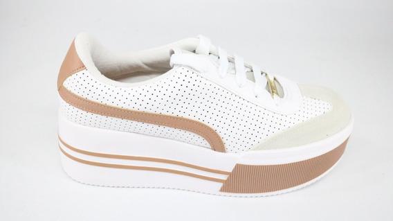 Tênis Vizzano Flatform Cadarço Branco