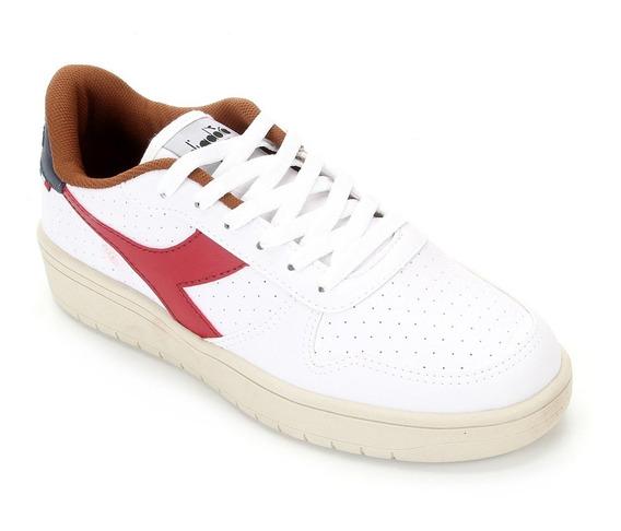 Tênis Diadora Plus L Masculino - Branco E Vermelho Nº43