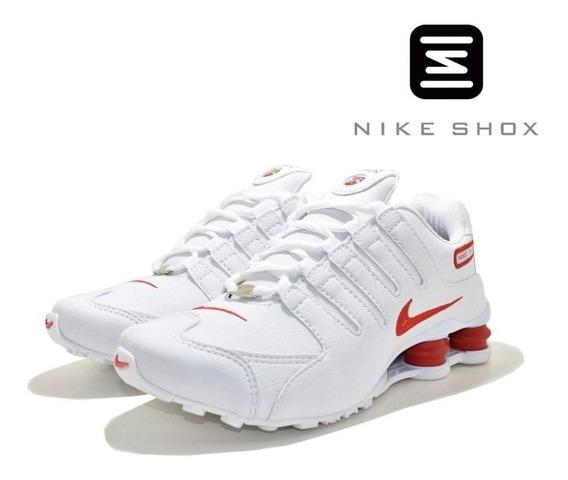 Tênis Feminino Nike 4 Molas Branco E Vermelho