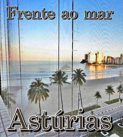 Astúrias Frente A Praia Com Vista Mar, 3 Dts Sendo 1 Suíte, 3 Banheiros, 1 Vaga, 100 Metros Úteis. - Ap0862