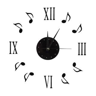 Musical Nota Pared Reloj Con Vinilo Cd Marcar Placa Y 3d Rom