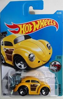 Volkswagen Beetle Fusca Amarelo Hw Tooned 2017 172/365