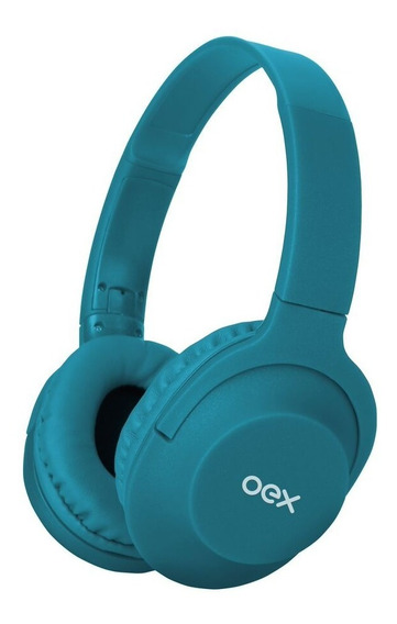 Headset Fone De Ouvido Hs207 Branco Microfone Flow Azul